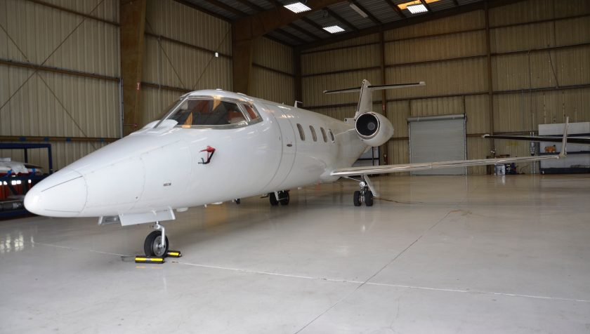 Lear 55 N855NC - Front 2