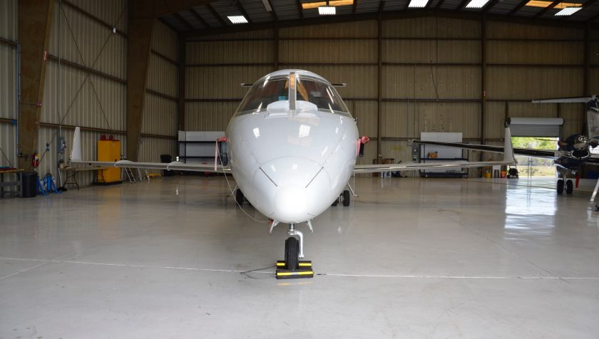 Lear 55 N855NC - Nose 1