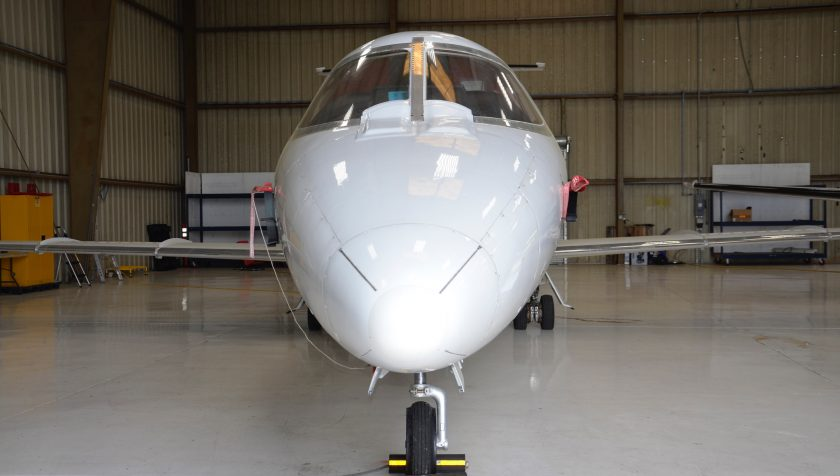 Lear 55 N855NC - Nose 2